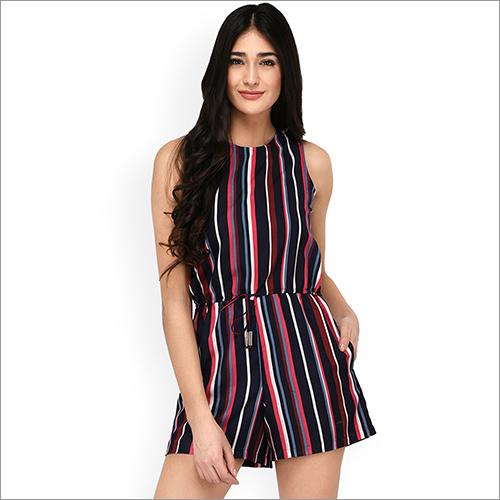 Ladies Striped Playsuits