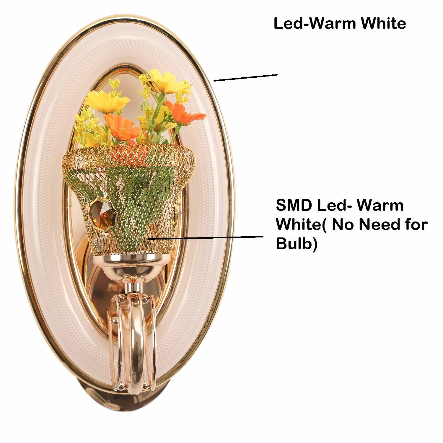 17W Flower Circle Led Wall Lamp Indoor (Warm White)