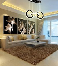 110W Two Round Led K9 Crystal Chandelier, Remote Control, 3 Colour (WW+CW+NW)