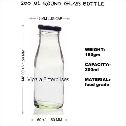 200 ML Round Glass Bottle