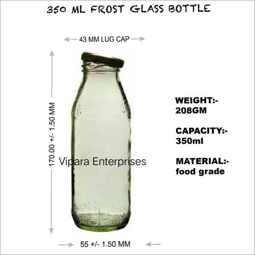 350 ML Frost Glass Bottle