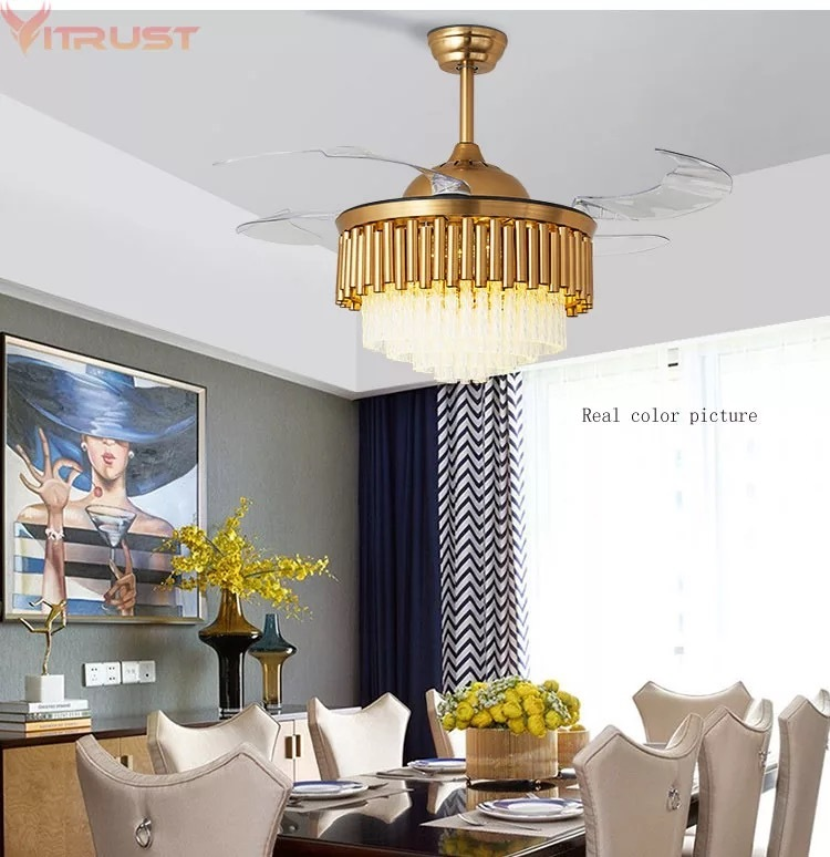 Crystal Fan Chandelier