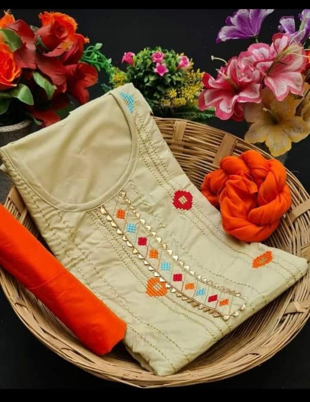 Cotton Embroidery Work