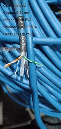 Cat 6 shielded cable
