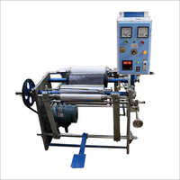 Aluminum Foil Cum Stretch Wrapping Rewinder Machine