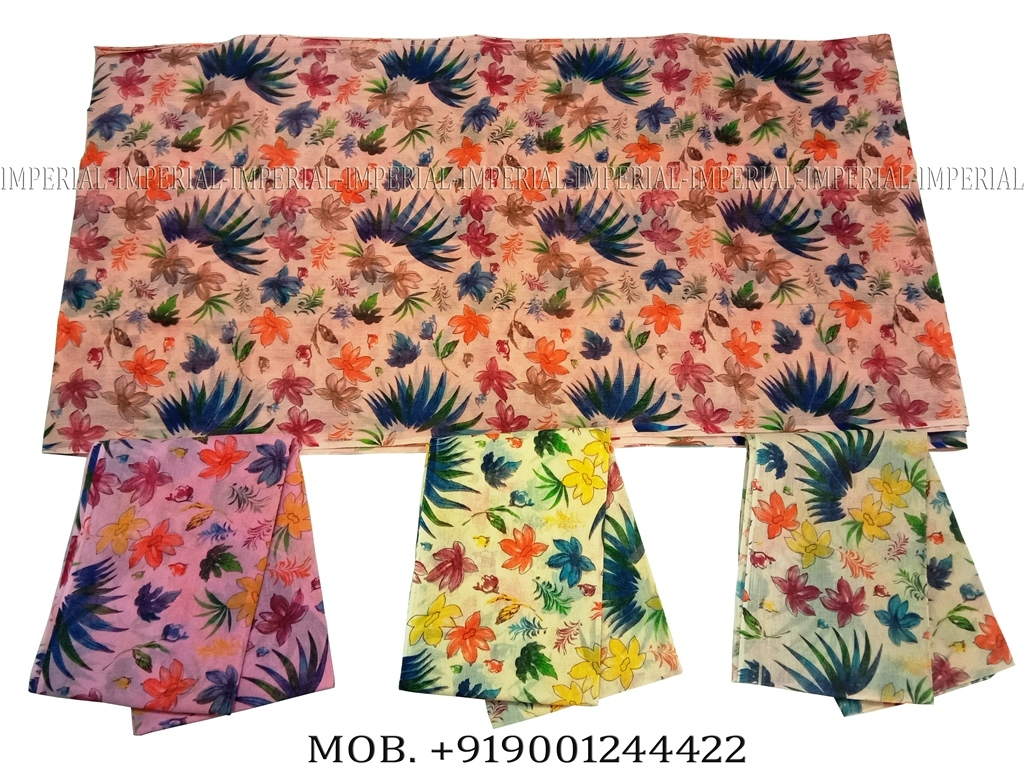 Floral Printed Jodhpuri Safa in cotton fabric