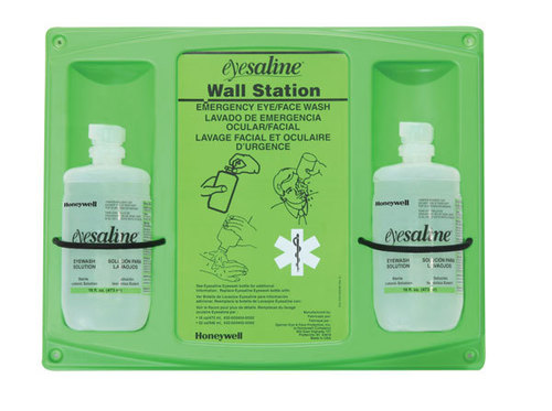 Honeywell: 32-000465-0000 - 16 oz. Eyesaline Double  Eyewash Wall Station