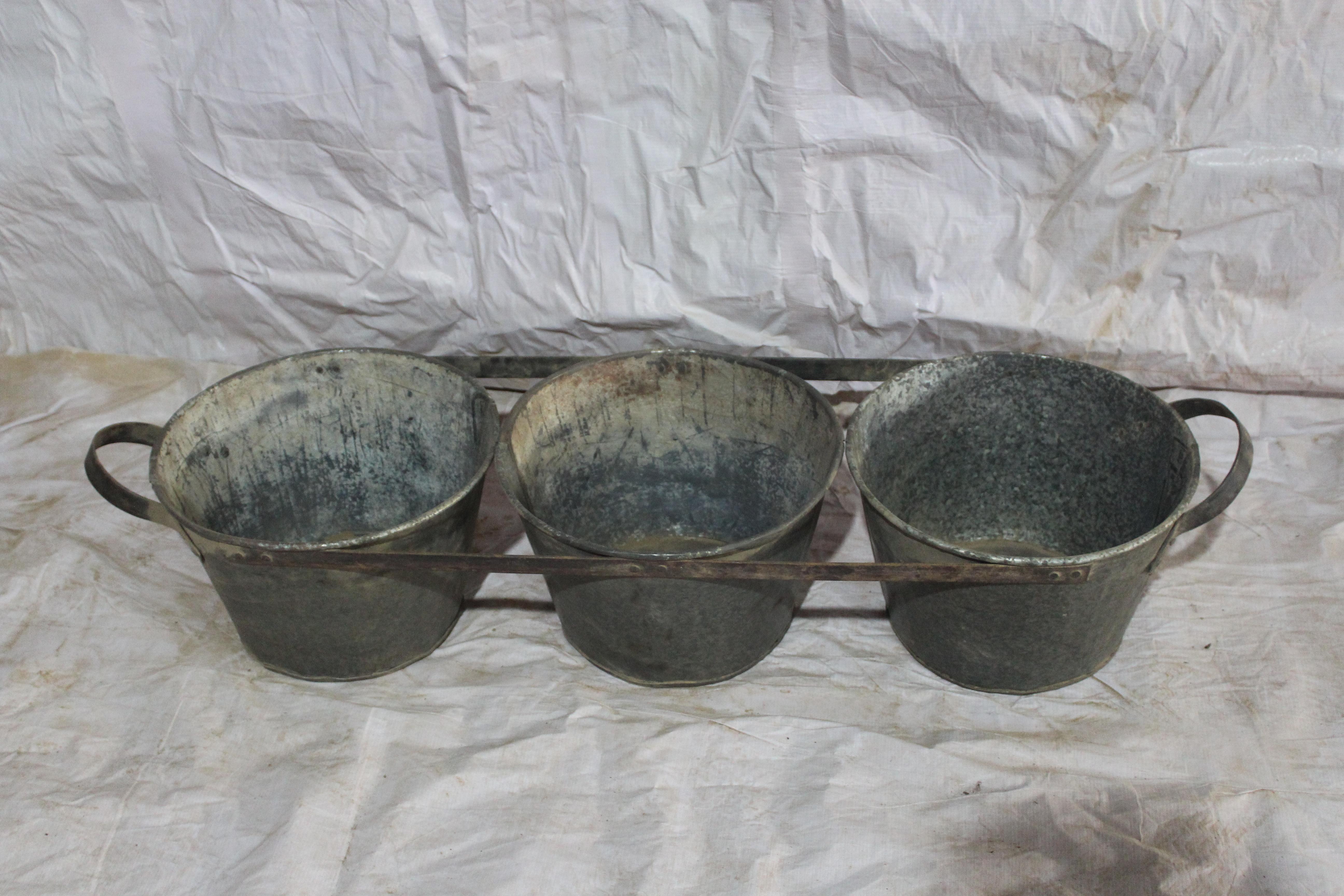 Iron pot planter set of 3