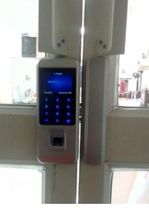 Metal Frame Fingerprint Glass Door Lock