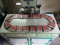 Semi Automatic Multicolor Pad Printing Machine With Conveyor