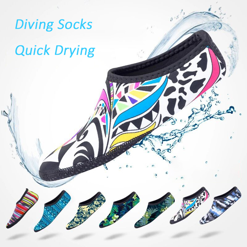 Beach socks diving socks unisex swimming shoes surfing shoe non slip for summer water dive surf raft boat yoga beach
