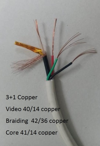3 in 1 CCTV copper Camera Cable