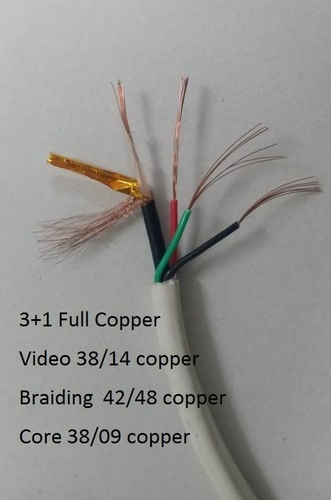 3 in 1 CCTV Full copper Camera Cable