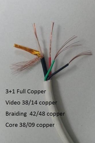 3 in 1 CCTV Full copper Camera Cable