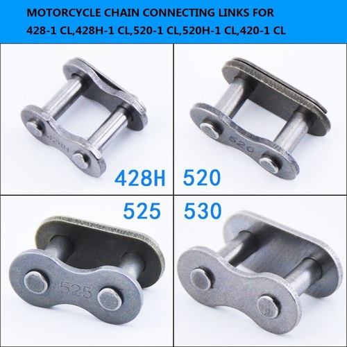 Roller connecting chain links