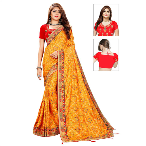 Indian Bandhani Silk Saree
