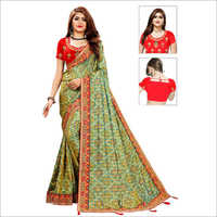Ladies Bandhani Silk Saree