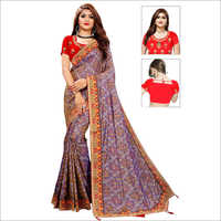 Fancy Bandhani Silk Saree