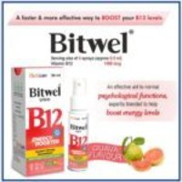BITWEL SPRAY + Serving size of 4 sprays (approx 0.5 ml) + Vitamin B12 1500 mcg