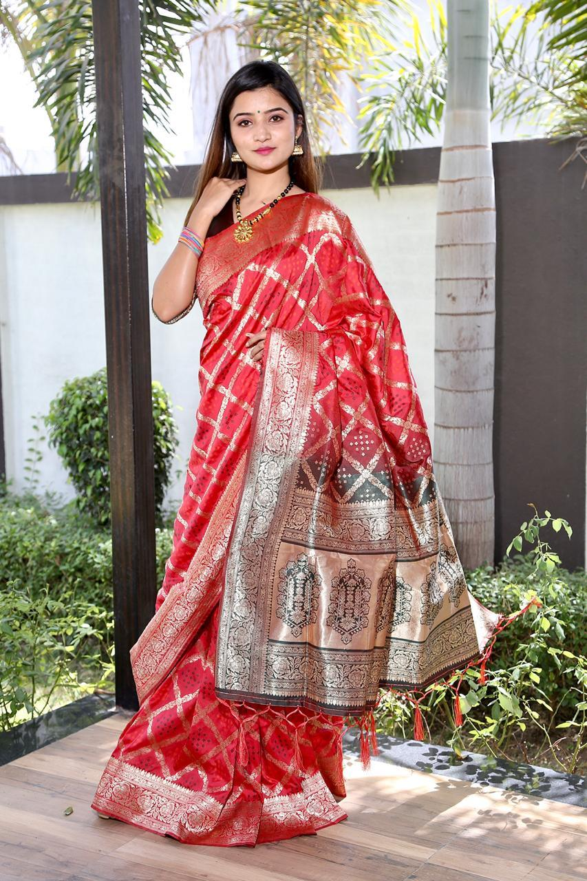 Cotton Embrodari Work Silk Saree