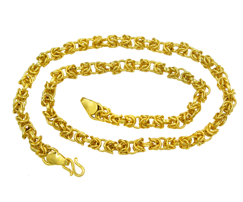 18k Micro Gold Plated Men & Women Chain (18 Inch)