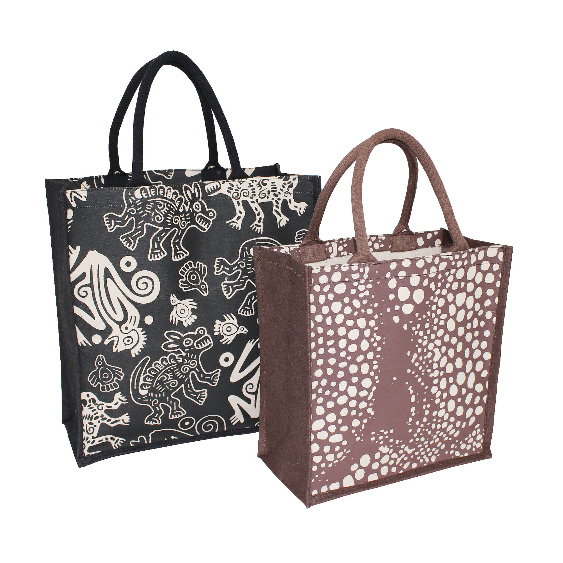 10 Oz Pp Laminated Canvas Tote Bag With Padded Rope Handle