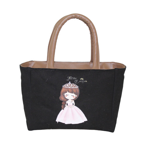 12 Oz Dyed Canvas Tote Bag With Eva Padding & Inside Polyester Lining