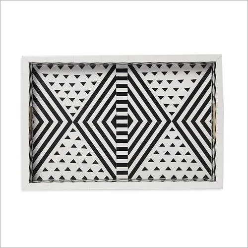Bone Inlay Rectangular Tray