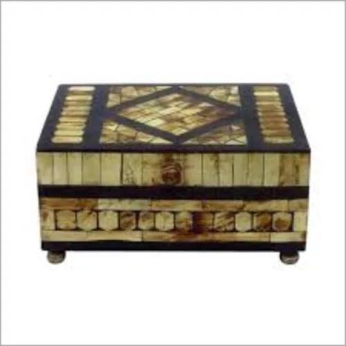Buffalo Horn Inlay Jewelry Box