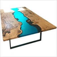 Big Epoxy Resin River Table