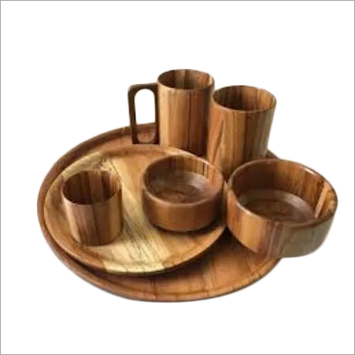 Wooden Dinner And Lunch Set