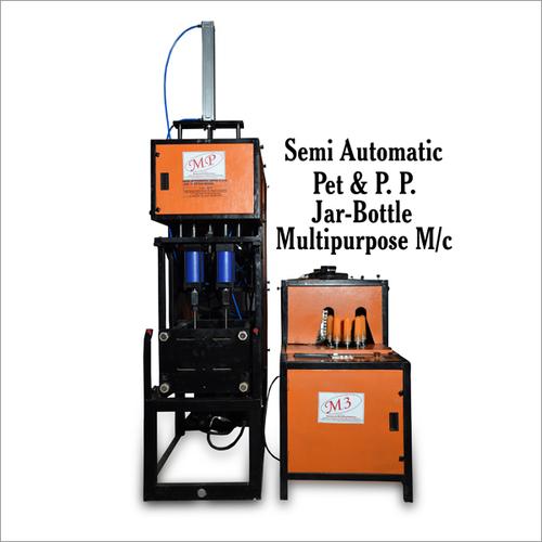 Semi Automatic Pet & P P Jar Bottle Multipurpose Machines