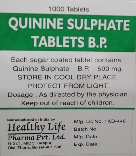Glaquine -200 (Quinine Sulfate Tablets Usp 200 Mg)
