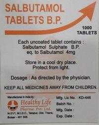 Salbutamol Tablets Bp 4 Mg