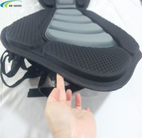 Kayak Padded Seat, SUP backrest seat, Rowing Boat Soft Non-Slip Adjustable with Cushion sit on top of SUP, boat,canoe black