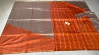 Pure Tussar Silk Handloom Raising Temple Pattern With All Over Booti Woven Saree .