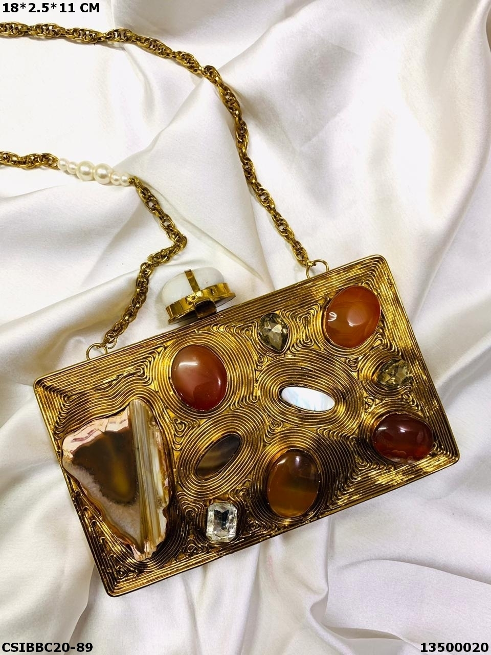 Exclusive Bridal Brass Mop Clutches