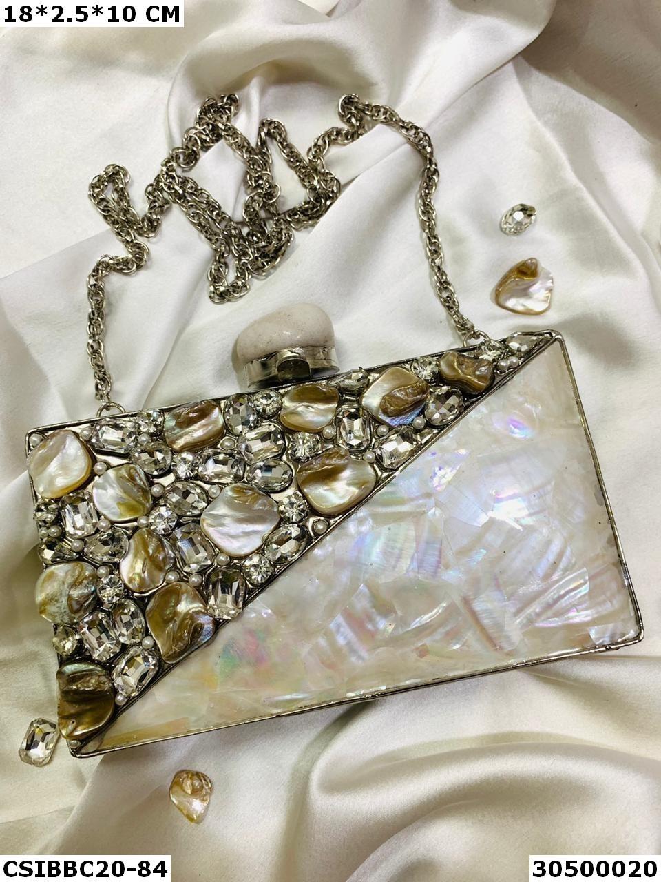 Bridal Mop Brass Clutches