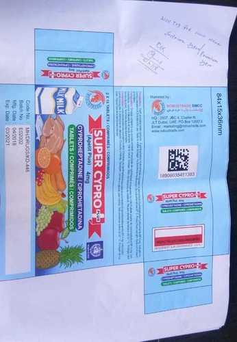 Super Apetit Plus / Cyproheptadine Tablets Bp 4 Mg
