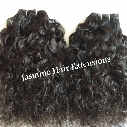 Raw Untreated Curly  Human Hair Extensions
