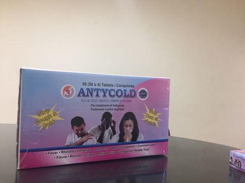 Antycold / Paracetamol, Caffeine, Phenylephrine Andcholpheniramine Maleate Tablets