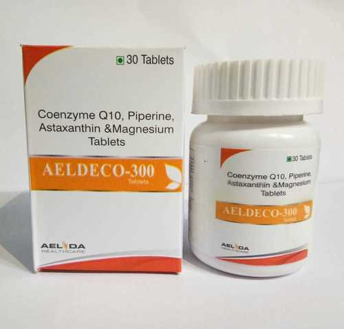 Coenzyme Q-10 300mg+Piperine 5mg+Astaxanthin 8mg+Magnisium 25