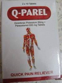 Q - Parel Tablets / Diclofenac Potassium And Paracetamol Tablets