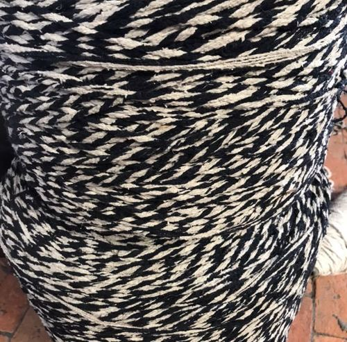 Navyblue and white yarn