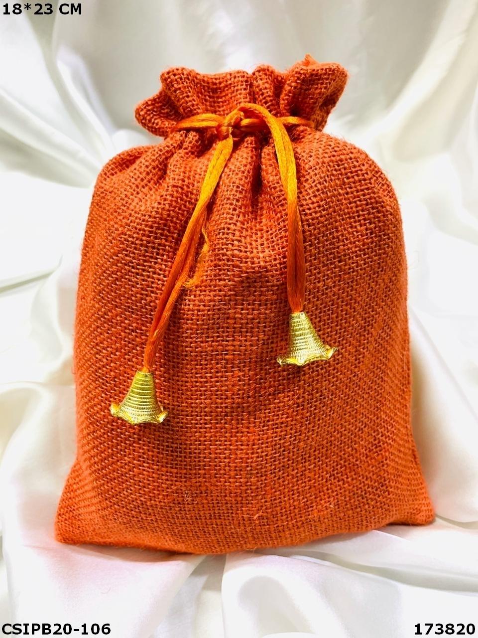 Standard Designer Jute Potli Bags