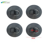 stainess steel D ring patch for pvc inflatable boat raft kayak canoe surfboard swimming tube self adhesive fitting accessories