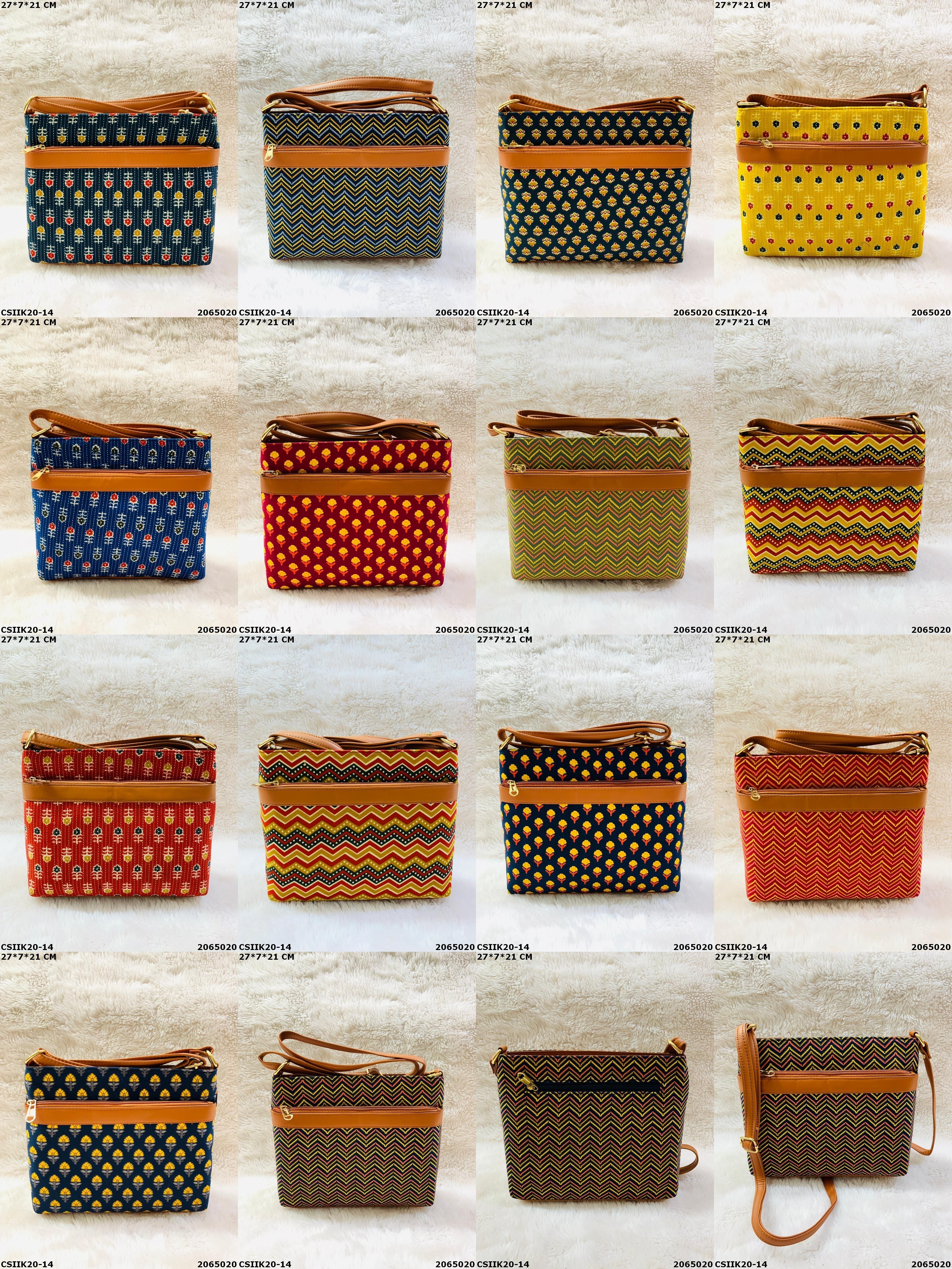 Girlish Ikkat Print Sling Bags