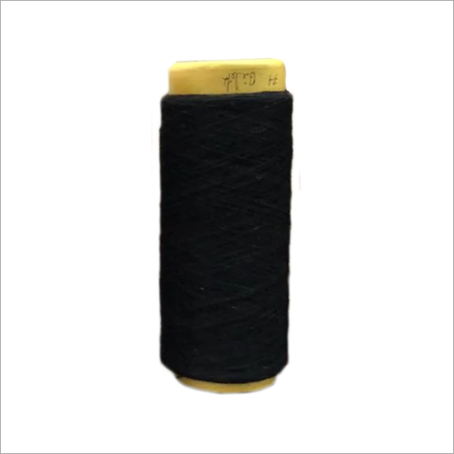 1-8 Black Melanges Dyed Yarn