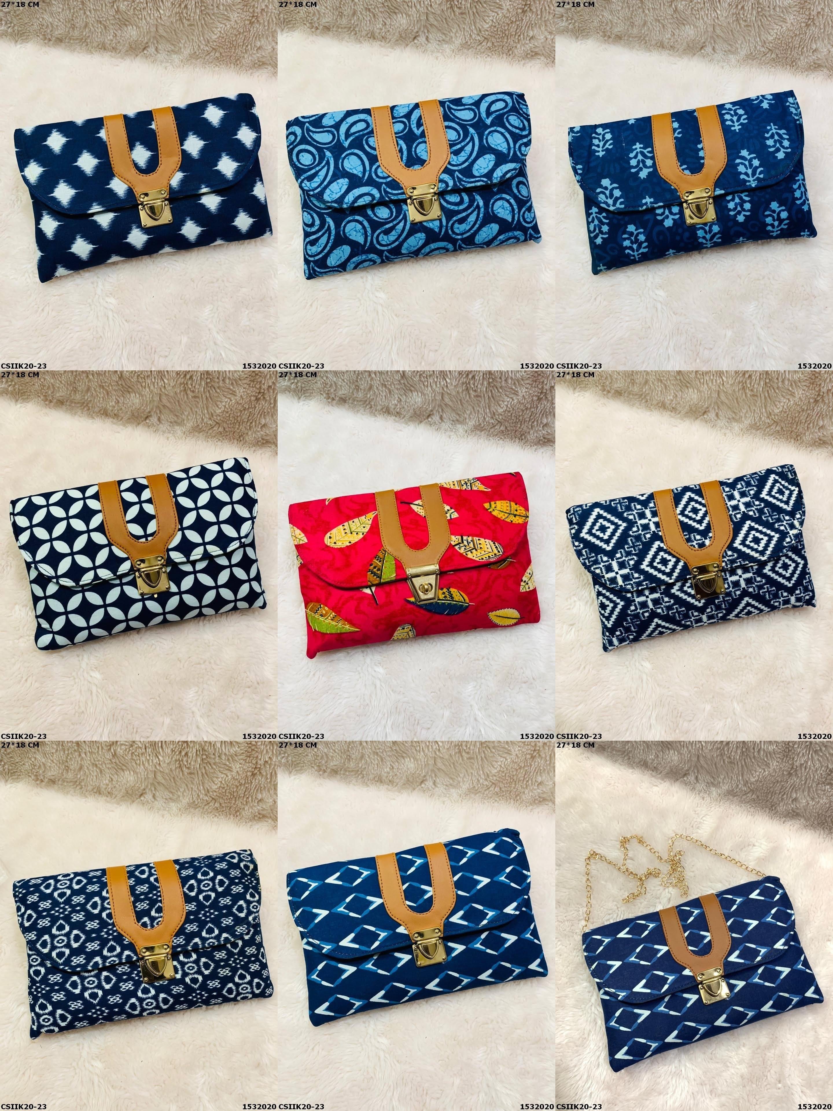 Ikkat Designer Clutch Bag