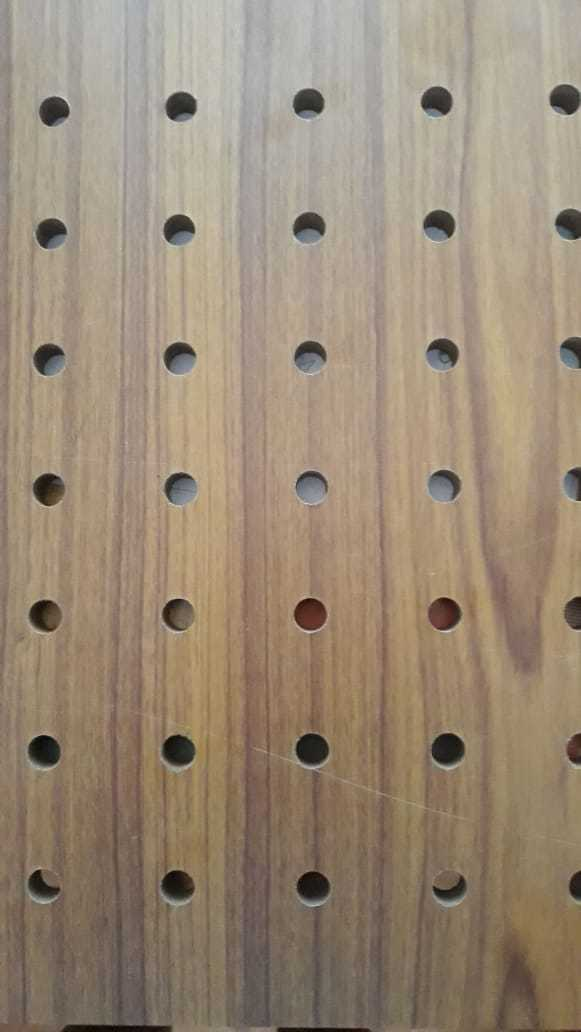 Laminated Mdf Perforated Acoustic Wall Panel